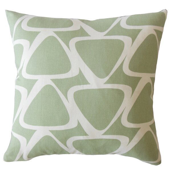 Ann Geometric Down Filled 100% Cotton Throw Pillow by Corrigan Studio